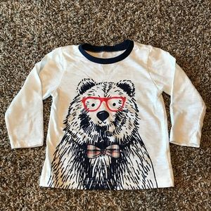 Toddler boy bear shirt